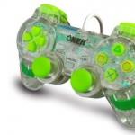 จอยเกมส์ joystick PS2 oker ใสเขียว