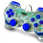 จอยเกมส์ joystick PS2 oker ใสน้ำเงิน