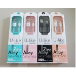 สายชาร์จ U-Like series สำหรับ iPhone ยาว 1 เมตร