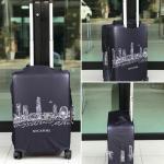 ผ้าคลุมกระเป๋าเดินทาง (Luggage Cover) รหัส 145 Size M : 23-27 นิ้ว