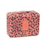 กระเป๋าอเนกประสงค์ใส่เครื่องสำอาง ใส่ของใช้ส่วนตัว (สีชมพูลายเสือ)
