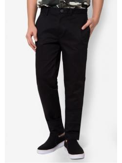 กางเกงขายาว Chino slim สีดำ