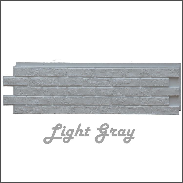 Brick Stone Panel รุ่น ZSZ-01 สีเทาอ่อน