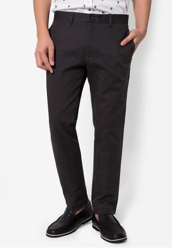 กางเกงขายาว Chino Slim สีเทาเข้ม