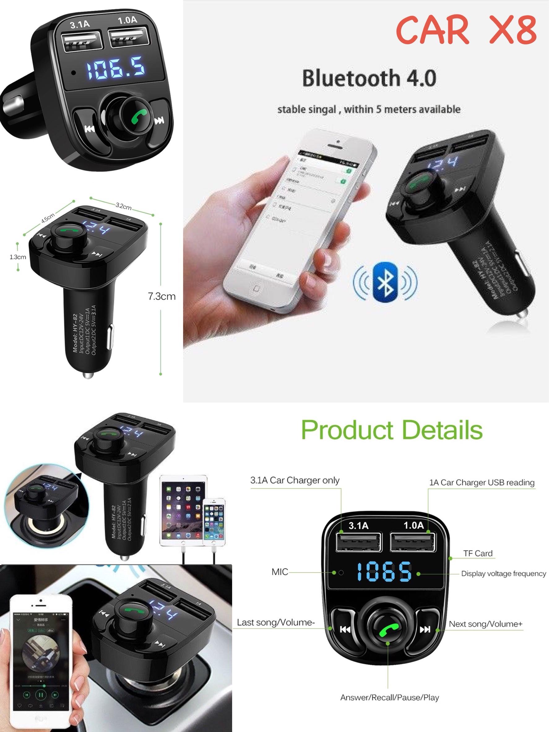 เครื่องเล่น MP3 รถยนต์ รุ่น Car X8