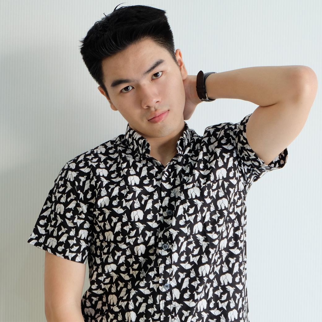 เสื้อเชิ๊ตแขนสั้น Paper animal (สีดำ)