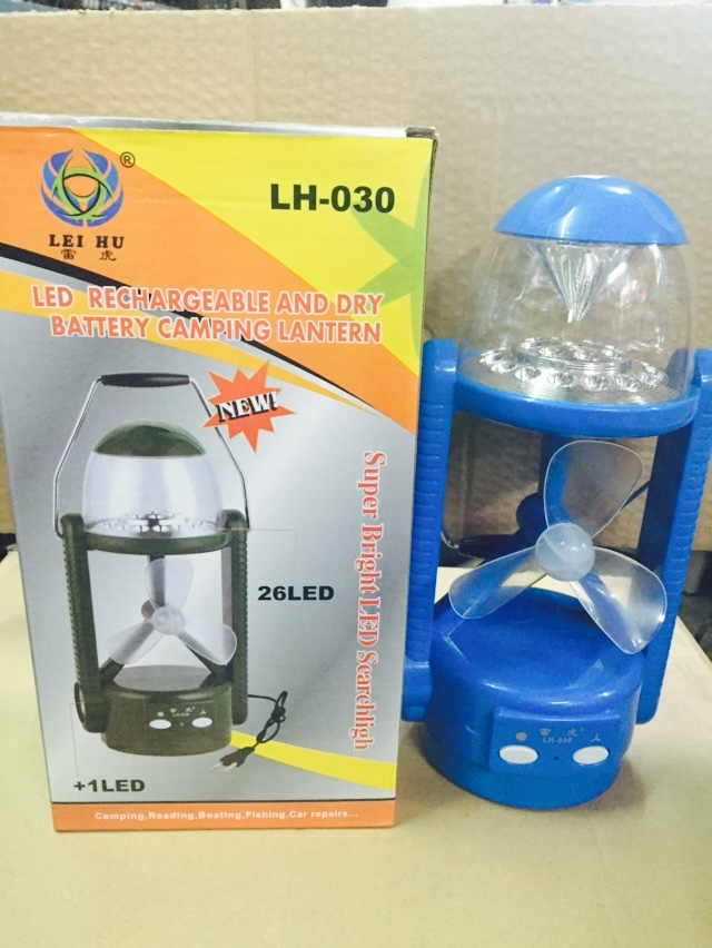 ตะเกียง LED LH-030 มีพัดลม