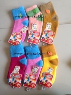 ถุงเท้าทอไหมพรมขนกระต่าย เด็ก