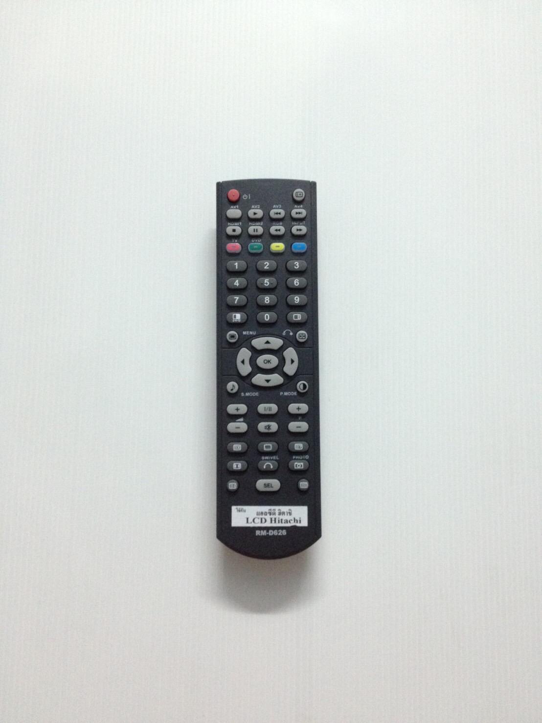 รีโมททีวี จอ lcd ฮิตาชิ hitachi D626