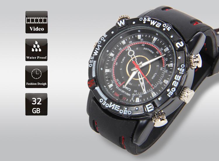 กล้องนาฬิกาข้อมือลายเข็มทิศ 32 GB
