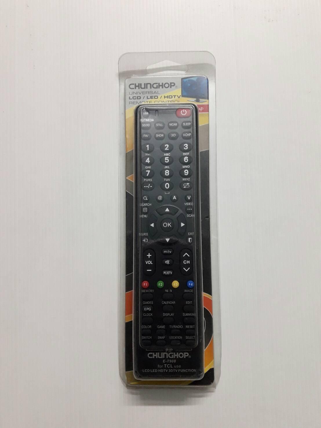 รีโมทรวมแอลซีดีทีซีแอล lcd TCl T908 ใช้กับ LCD TCL ได้ทุกรุ่น