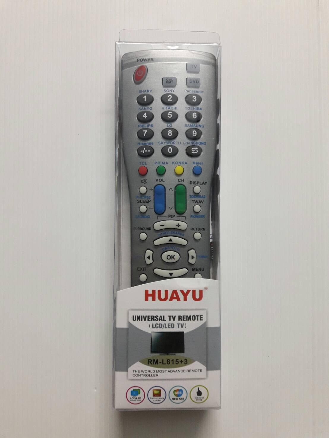 รีโมทรวมทีวี lcd led sharp ชาร์ป RM-L815+3 ใช้ได้กับทุกรุ่น