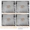 เบาะผ้ารองนั่งสมาธิผ้ากำมะหยี่ลายดอกไม้ 65x65 cm หนา 2 cm (สีขาว) สำเนา