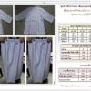 ชุดขาวเสื้อสามส่วนพร้อมผ้าถุงสำเร็จรูปเอวยืด(รัตนาภรณ์)size-s