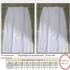 ชุดขาวผ้าถุงสำเร็จรูปเอวตะขอ