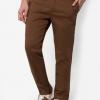 กางเกงขายาว Chino Slim สีน้ำตาล