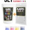 เซ็ตเม็ดพลาสติก แม๊กซ์ (พลาสติกมหัศจรรย์ปั้นได้) ไซส์ S + เม็ดพลาสติกสี 4 สี CMYK - SET PLASTIC MAX SIZE : S + CMYK COLOR - Moldable Plastic for DIY CRAFT ART