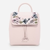CHARLES & KEITH FRONT FLAP BACKPACK WITH FLOWER *ชมพู