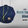 เสื้อเชิ๊ต Multi Tartun Blue