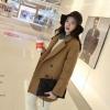 สีน้ำตาลกากี-เสื้อโค้ทกันหนาว สไตล์เกาหลี ทรงยาว
