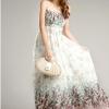 Maxi dress เดรสยาวสไตล์โบฮีเมียน สายเดี่ยวสีขาวลายดอก