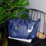 Parfois กระเป๋าถือหรือสะพายหนังนิ่มสีน้ำเงิน