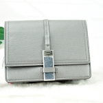 Charles & Keith Metal Clasp Clutch *สีเทา