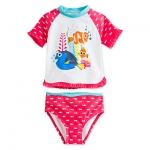 ชุดว่ายน้ำเด็ก ทูพีช ไฟน์ดิ้ง ดอรี่ Finding Dory Rash Guard Swimsuit for Girls