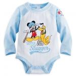 บอดี้สูท มิกกี้และพลูโต Mickey Mouse and Pluto Disney Cuddly Bodysuit for Baby