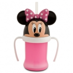 ถ้วยหัดดื่มพร้อมหลอดสำหรับเด็ก มินนี่เมาส์ Minnie Mouse Head Cup with Handle for Kids