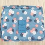กระเป๋าอเนกประสงค์ จัดระเบียบกระเป๋าเดินทาง (สีฟ้าลายดอกไม้)