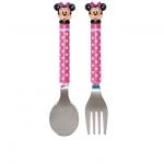 ชุดช้อนส้อม มินนี่เมาส์ Minnie Mouse Polka Dot Flatware Set