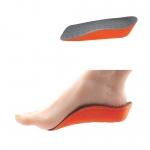 แผ่นรองเท้า เพิ่มความสูง เสริมส้นเท้า 1 คู่ - สีส้ม