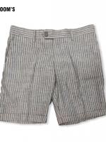 EXTRA SHORT กางเกงขาสั้น ลายทางเทา