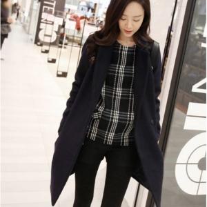 เสื้อโค้ทกันหนาว ทรงสวย แบบผู้ดีมากค่ะ สีดำ