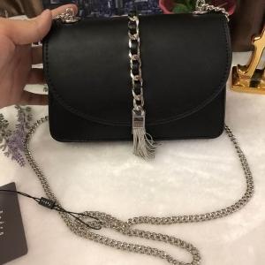 PEDRO TASSEL FLAP BAG *สีดำ