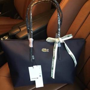 Lacoste Shopping Bag-กรมท่า