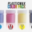 เซ็ตเม็ดพลาสติก แม๊กซ์ (พลาสติกมหัศจรรย์ปั้นได้) ไซส์ M + เม็ดพลาสติกสี 6 สี (CMYK+สีสะท้อนแสง) - SET PLASTIC MAX SIZE : M + CMYK/NEON 6 COLORS - Moldable Plastic for DIY CRAFT ART thumbnail 5