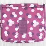 กระเป๋าอเนกประสงค์ จัดระเบียบกระเป๋าเดินทาง (สีน้ำตาลลายดอกไม้)