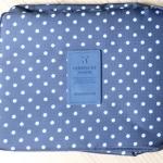กระเป๋าอเนกประสงค์ใส่เครื่องสำอาง ใส่ของใช้ส่วนตัว (สีน้ำเงินจุดขาว)