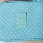 กระเป๋าอเนกประสงค์ใส่เครื่องสำอาง ใส่ของใช้ส่วนตัว (สีเขียวจุดขาว)