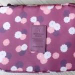 กระเป๋าอเนกประสงค์ใส่เครื่องสำอาง ใส่ของใช้ส่วนตัว (สีดอกแดง)