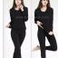 ลองจอนหญิงสีดำ รุ่นวุลพรีเมี่ยม เสริมผ้าฟรีซเพิ่มตลอดทั้งตัว *** (ทั้งชุด เสื้อ+กางเกง) buy1get1 thumbnail 1