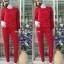 ชุดลองจอน หญิงสีแดง ลายหัวใจวูลด้านแพทเทิร์นด้านนอกตัวเสื้อ thumbnail 2
