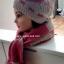 เซ็ต 2 in 1 หมวก+ผ้าพันคอทอไหมพรมผสมวูล สีชมพู งานนำเข้าเกรดพรีเมี่ยม thumbnail 3