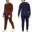 ชุดลองจอนชายบุผ้าดับเบิ้ลวูลพรีเมี่ยมสีกรมท่าเข้มอมดำ thumbnail 2