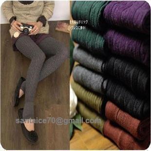 เลคกิ้งทรงลองจอน ผ้าไหมพรมขนกระต่าย ทอยกลาย จับข้อเท้าknitting wool