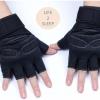 ถุงมือฟิตเนสแบบมืออาชีพ สีดำ ไซส์ L