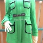 เสื้อโค้ท ผ้าวูลเกรดดี งานนำเข้าเกรดพรีเมี่ยม สีเขียวมิ้นท์