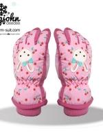 ถุงมือสกีเด็กหญิง 4-12 ขวบ แบบที่3